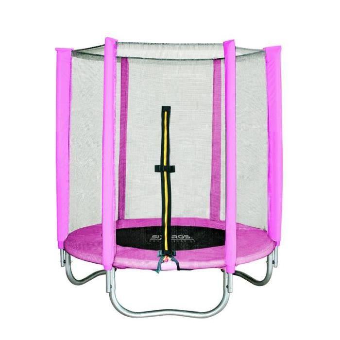 Trampoline rose pour enfant 140 cm Prix pas cher