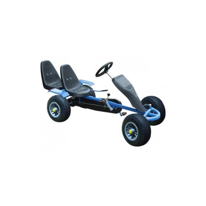 Kart voiture à pédale 2 places Bleu Achat / Vente kart Kart