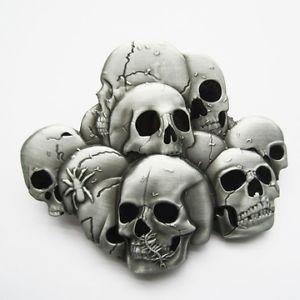 sur Boucle Ceinture Biker Skull family moto custom tete de mort belt