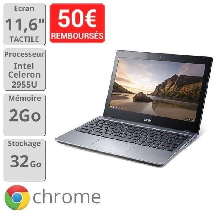 Destockage Chromebook Acer Aspire C720P ordinateur portable au