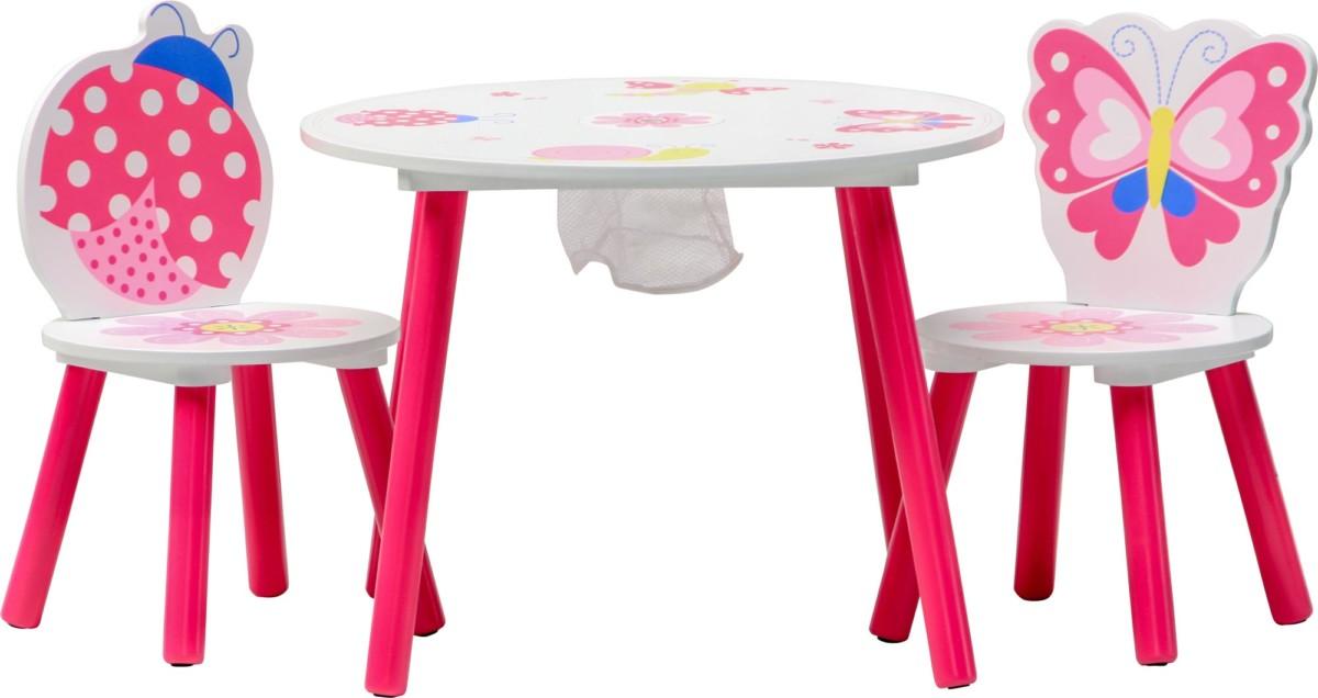 sur Ensemble table et 2 chaises enfant PAPILLON Set meubles enfant