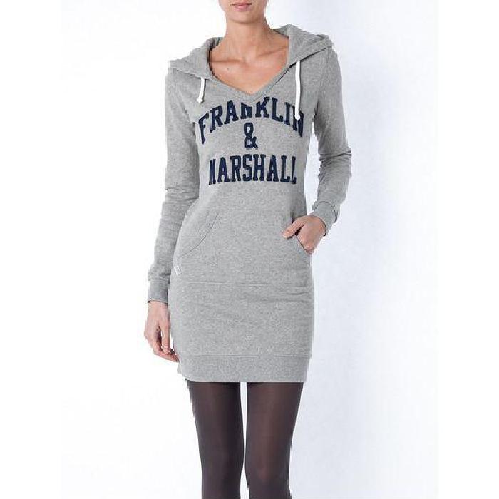 Robe sweat shirt à capuche Gris Achat / Vente robe Soldes* d