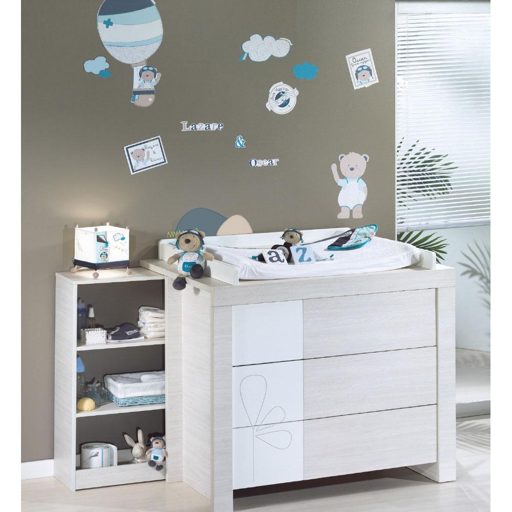 Lazare stickers muraux Bleu de Sauthon Baby Déco, Stickers et