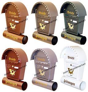 Grand Boîte AUX Lettres XXL Porte Journaux Retro Design 6 Couleurs T2