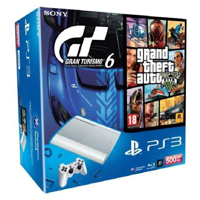 PS3 Blanche 500 Go + GT6 PS3 + GTA V PS3 Achat / Vente console ps3