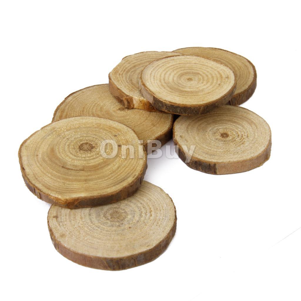 Phenovo Pins Tranches DE Bois Pour Bricolage Décoration Mariage 4 5cm