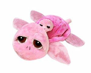 Suki Peluche tortue rose et son bébé env. 25 cm: Jeux et