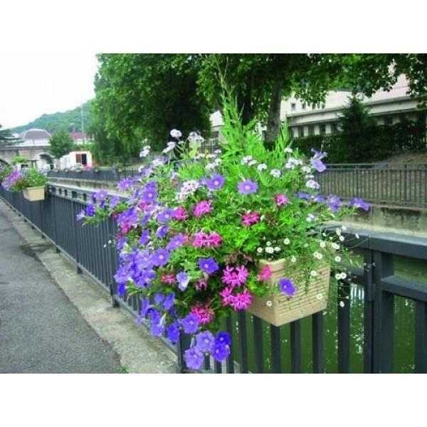 BALCONNIERE EDELWEIS 120 X 25 Achat / Vente jardinière pot fleur