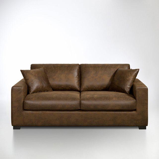 Canapé microfibre, hiba marron chocolat Interieurs | La