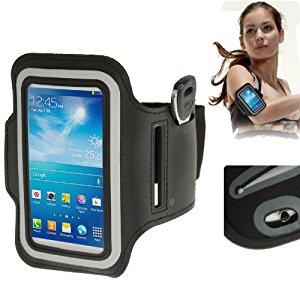 Brassard sport tour de bras noir pour Samsung Galaxy SIV mini S4 mini