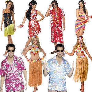 Femmes robe fantaisie hawaïen costume homme hula été plage tenue de