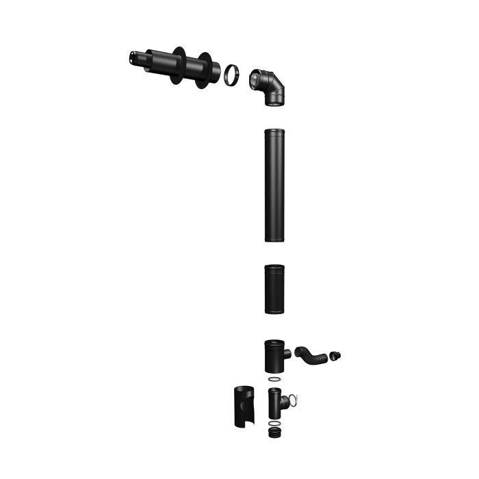 Pack conduit de fumée TWIN 80/125 mm pellet Achat / Vente