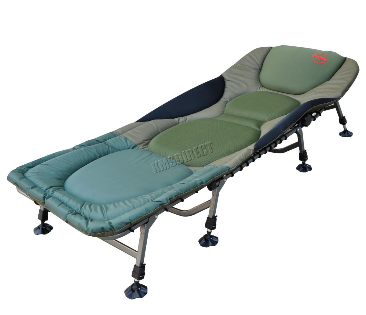 Carp Portable président Pêche de lit Bedchair Camping 8 pieds