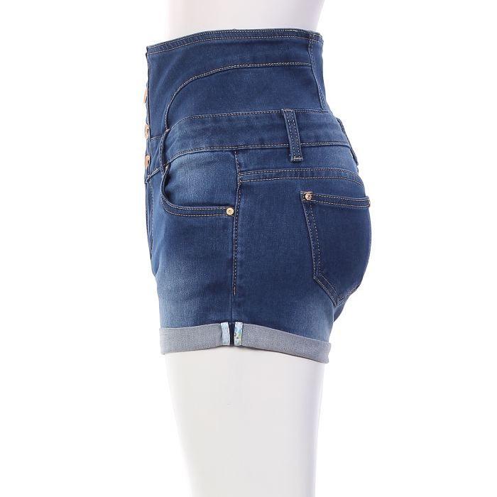 Short en jean taille haute Stoned Achat / Vente short Soldes* d