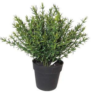 18cm artificielle en pot thym plant decoratif en plastique herb plante