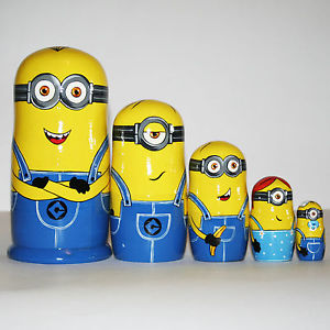 Nesting dolls Minions Despicable Me russian matryoshka