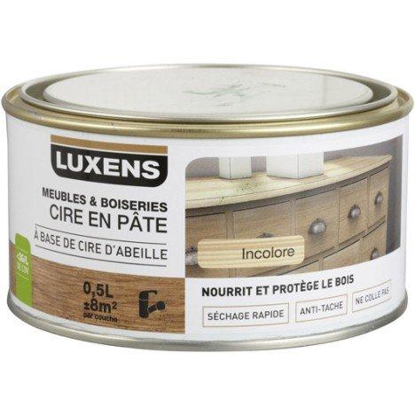 Cire en pâte meuble et objets LUXENS, 0.5 l, incolore |