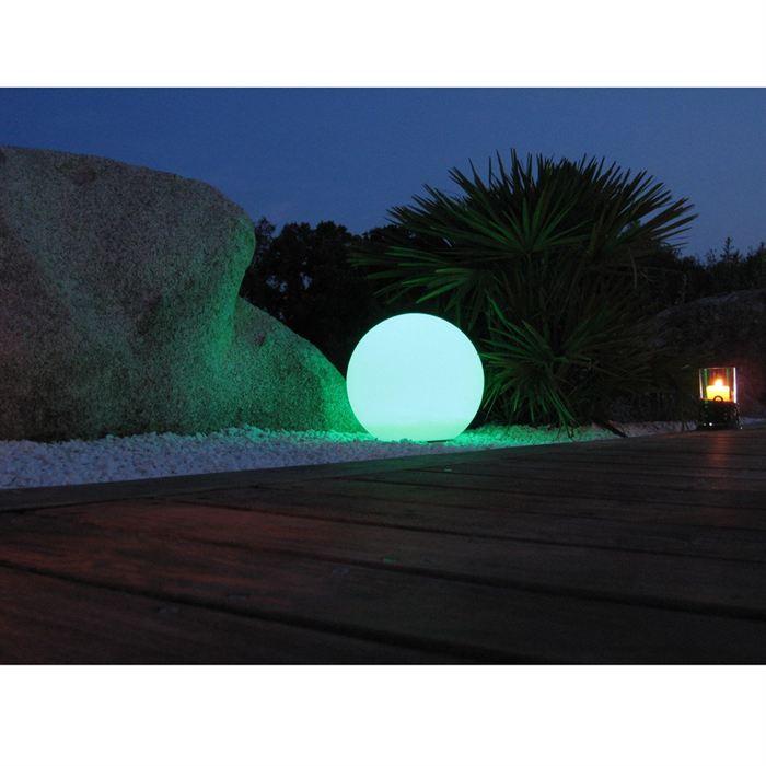 Sphère lumineuse diamètre 60 cm multicolore à LEDS + télécommande
