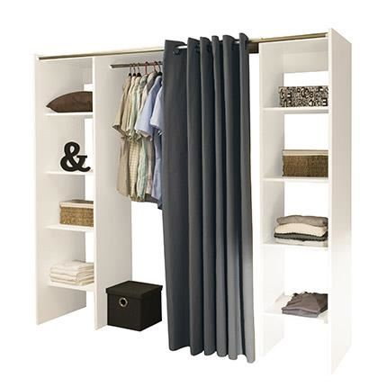 DRESS UP Armoire dressing extensible L.112/185 cm Achat / Vente