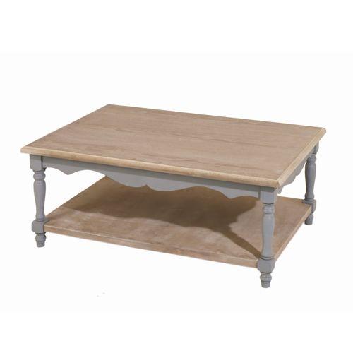 Mathilde et Pauline Table basse rectangulaire en bois bicolore