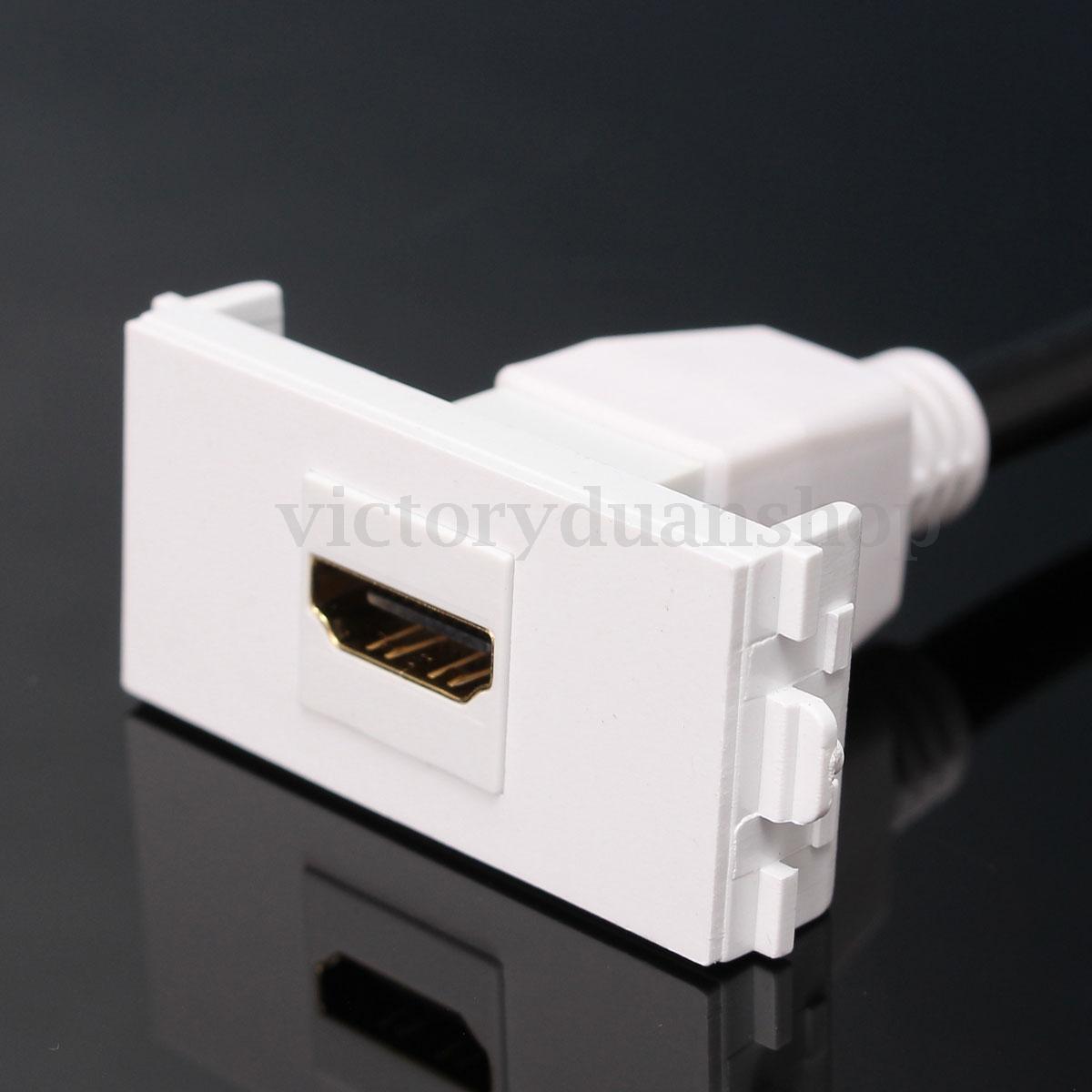 Prise Electrique Murale Panneau Multimédia Chargeur Courant HDMI/SVGA