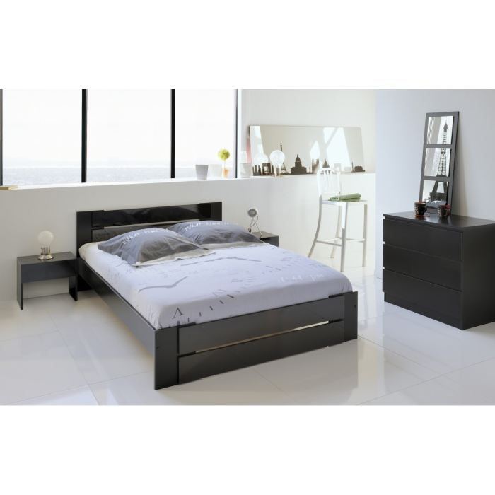 lit et sommier 140x190 maison design. Black Bedroom Furniture Sets. Home Design Ideas