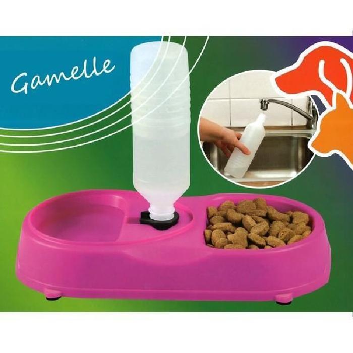 Gamelle duo pour chien et chat rose Achat / Vente gamelle écuelle