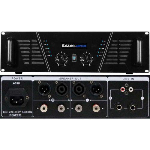 Ibiza Sound Pack Sono Dj ampli 1600 W + 4 Hp 600W Dj 675 S pas cher
