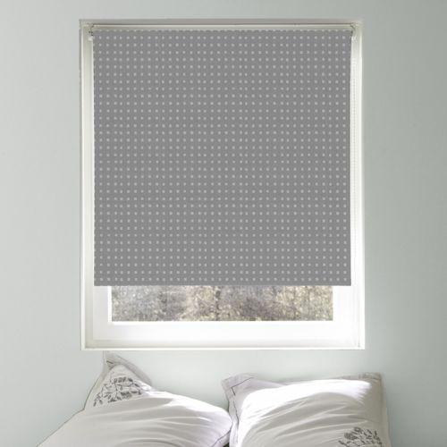Store enrouleur design occultant gris métal 120x190cm pas cher