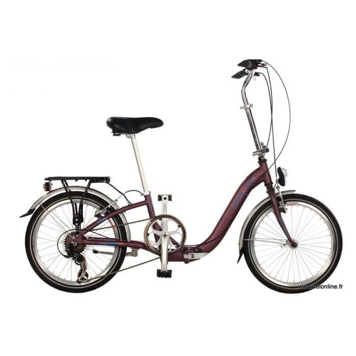 Vélo pliant CAMBRIDGE Vitesses 3 vitesses Nexus, Couleur Bordeaux