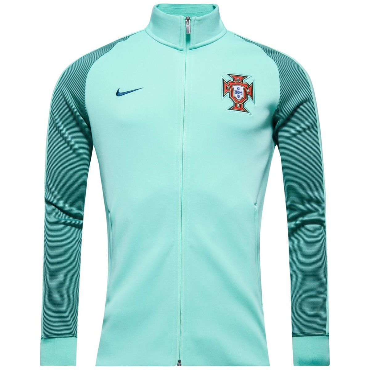2016 2017 Portugal Nike Authentic N98 Track Jacket (Green Glow)