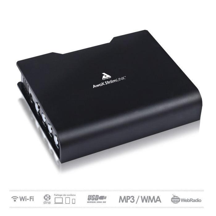 AWOX LINK adaptateur audio WiFi / USB / DLNAE récepteur audio, prix