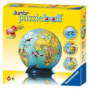 Ravensburger 11391 Puzzle enfant Puzzle Ball Mappemonde 96