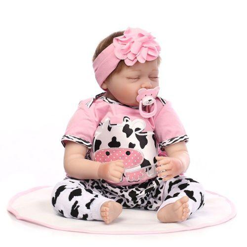 22 Pouces Silicone Bébé Poupée Reborn Couchage Renaître Bébés