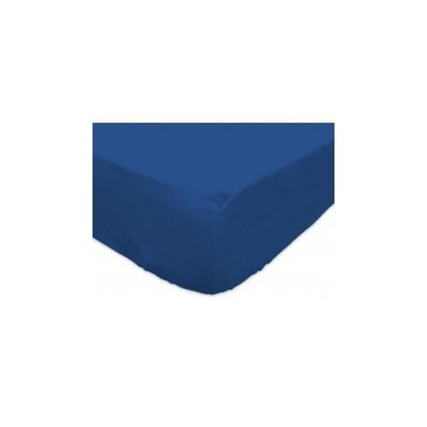 Drap housse des vosges 90×190 bleu BT 27 cm Drap housse 100% coton