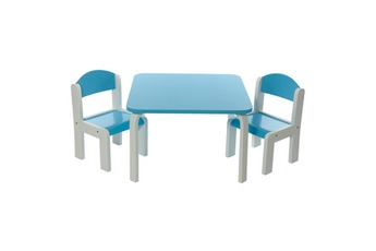 Ensemble table / chaise Ensemble Table et Chaises enfant Bleue en bois