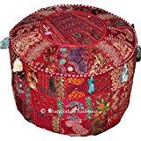 Coussin de méditation indien Coussin de Sol carré patchwork en coton