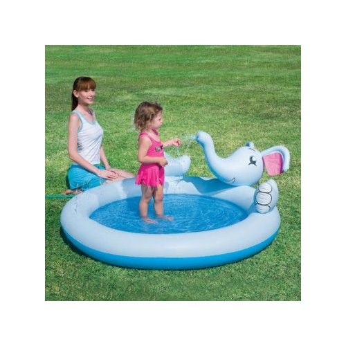 Piscine Pataugeoire Aire De Jeux Gonflable Eléphant Avec Jet D'eau
