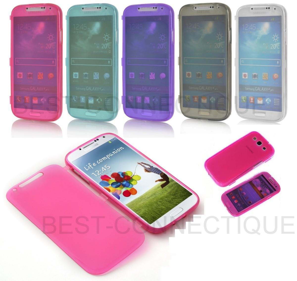 Etui Housse Coque Gel Rabat Samsung Galaxy S2 S3 S4 S5 S6 MINI NOTE 2