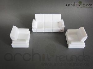 Modèle canapé set pour modélisme 1:50, Maquette de train échelle 0