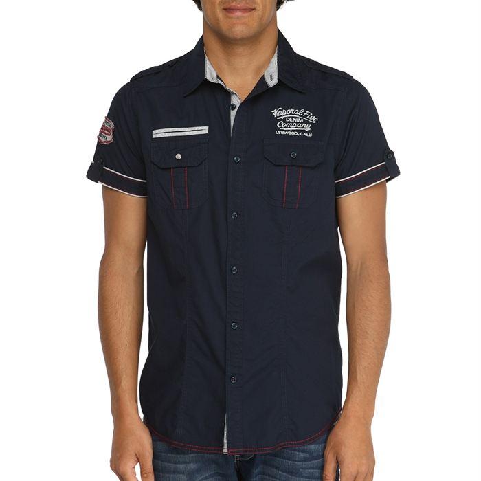 kaporal chemisette habla homme marine Marine Achat / Vente chemise