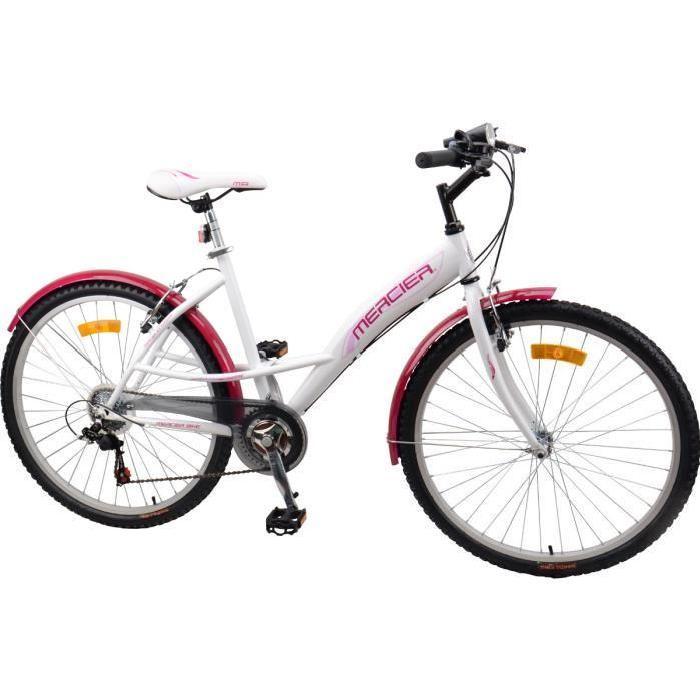 MERCIER Vélo VTC MISS FLOWER 26″ Femme Prix pas cher Soldes