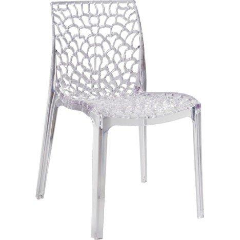 Chaise de jardin en polycarbonate Grafik lux transparent | Leroy