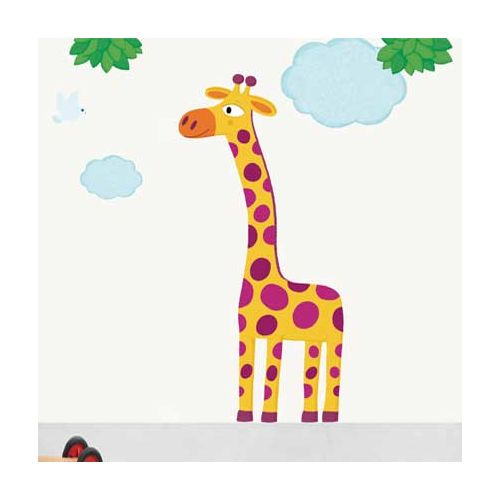 Nouvelles Images Sticker mural enfant Xxl Grande girafe 49x69cm