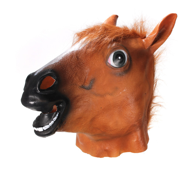 Latex Masque Tete Cheval Animal Cosplay Masquerade Deguisement Theatre