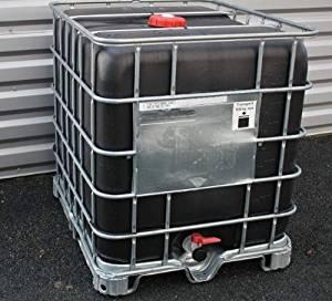 Citerne de récupération d'eau 1000 L Polyéthylène noir Palette
