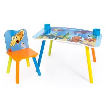 Ensemble table et chaise avec dossier enfant pour loisirs créatifs