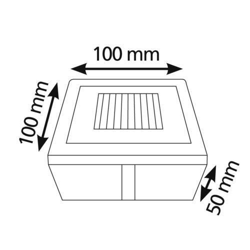 Lumihome Pave Balisage sol encastrable solaire Led Blanc 10x10cm