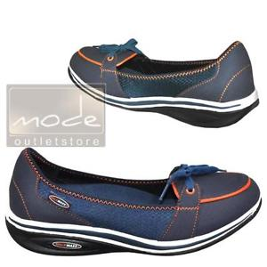 Mocassins 39 Femmes Sport Ballerine Bleue Chaussures dames 8481