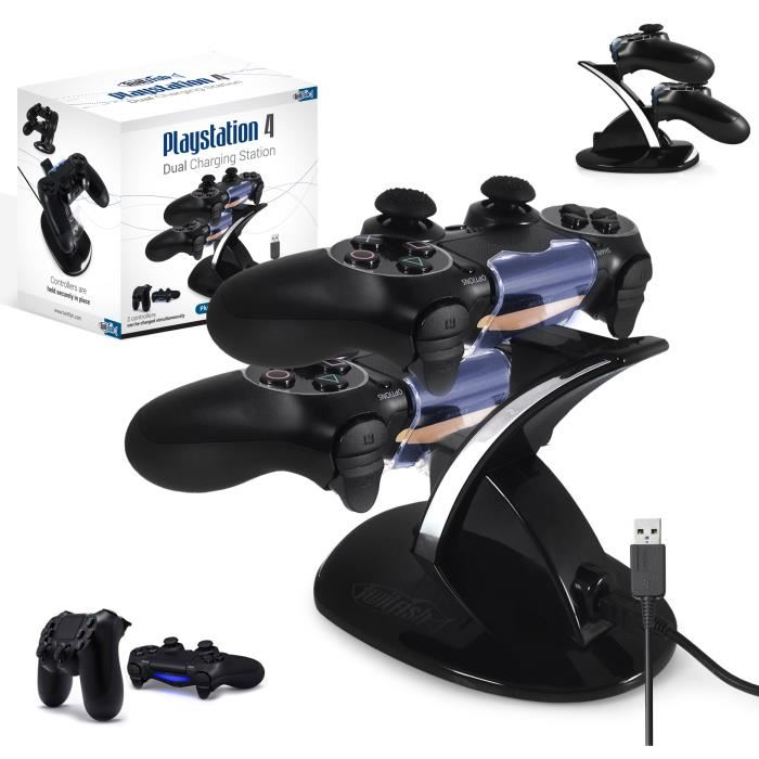 TWITFISH Station Rechargement 2*Manettes PS4 TWITFISH Station